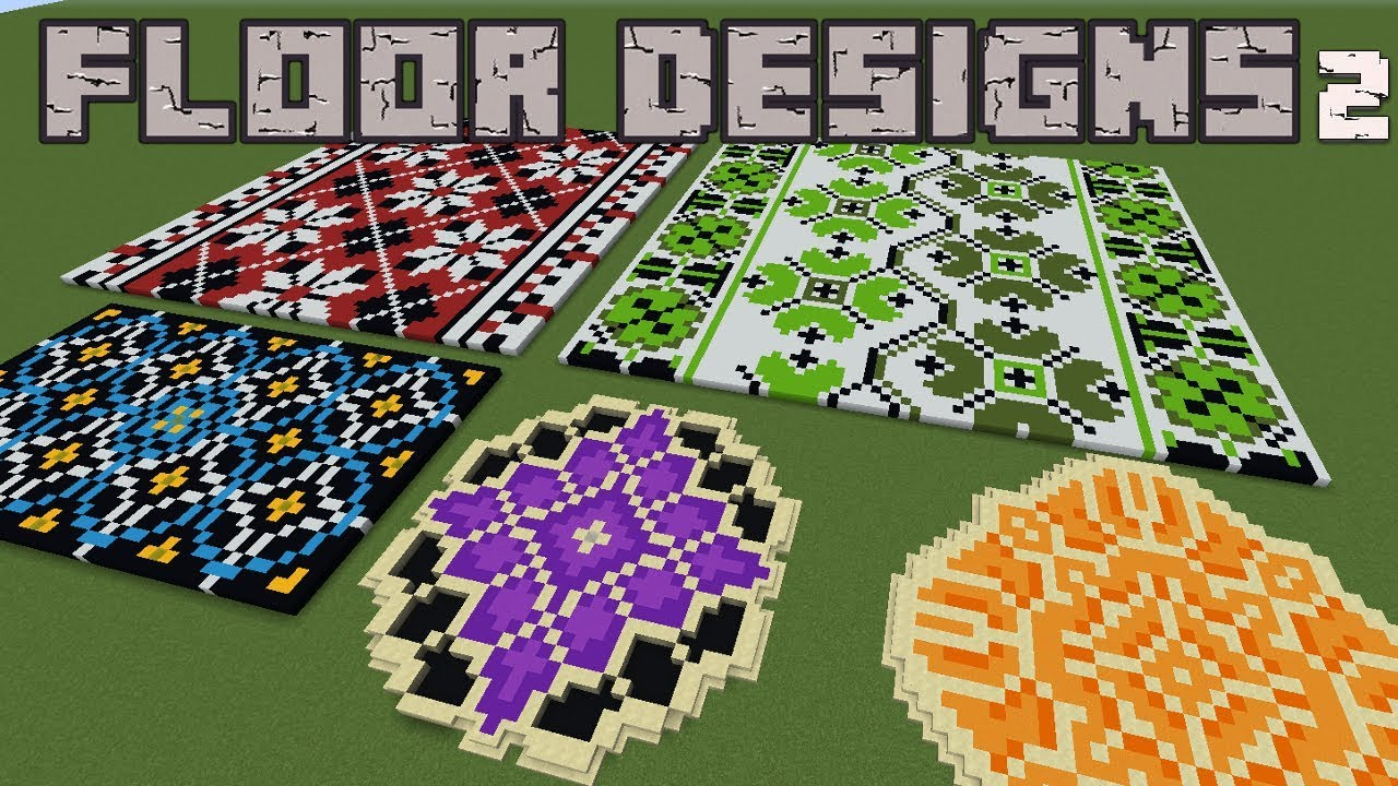 Minecraft - 5 Giant Floor Designs Pt 2