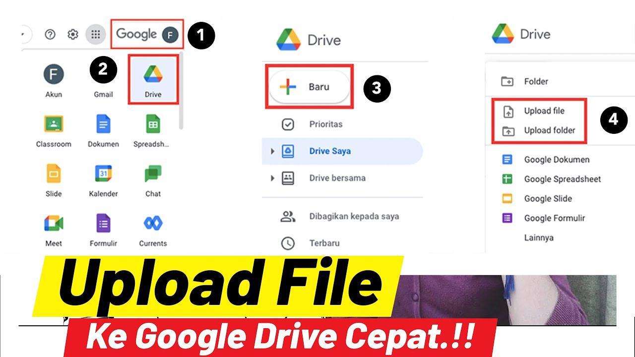 Cara Upload File Atau Foto Ke Google Drive Youtube