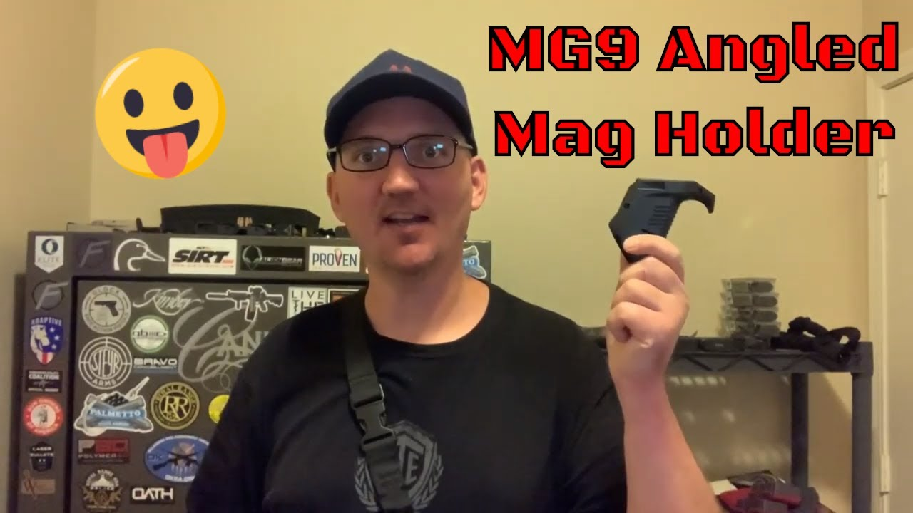 MG9 Angled Mag Holder by Recover Tactical - Fits Picatinny Rail (2020)