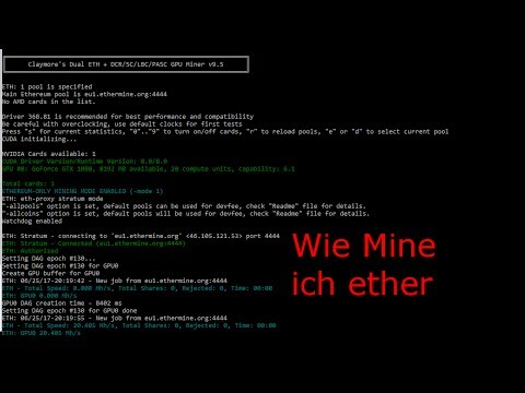 Ethereum mining Deutsch