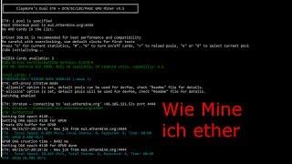 Ethereum mining Deutsch