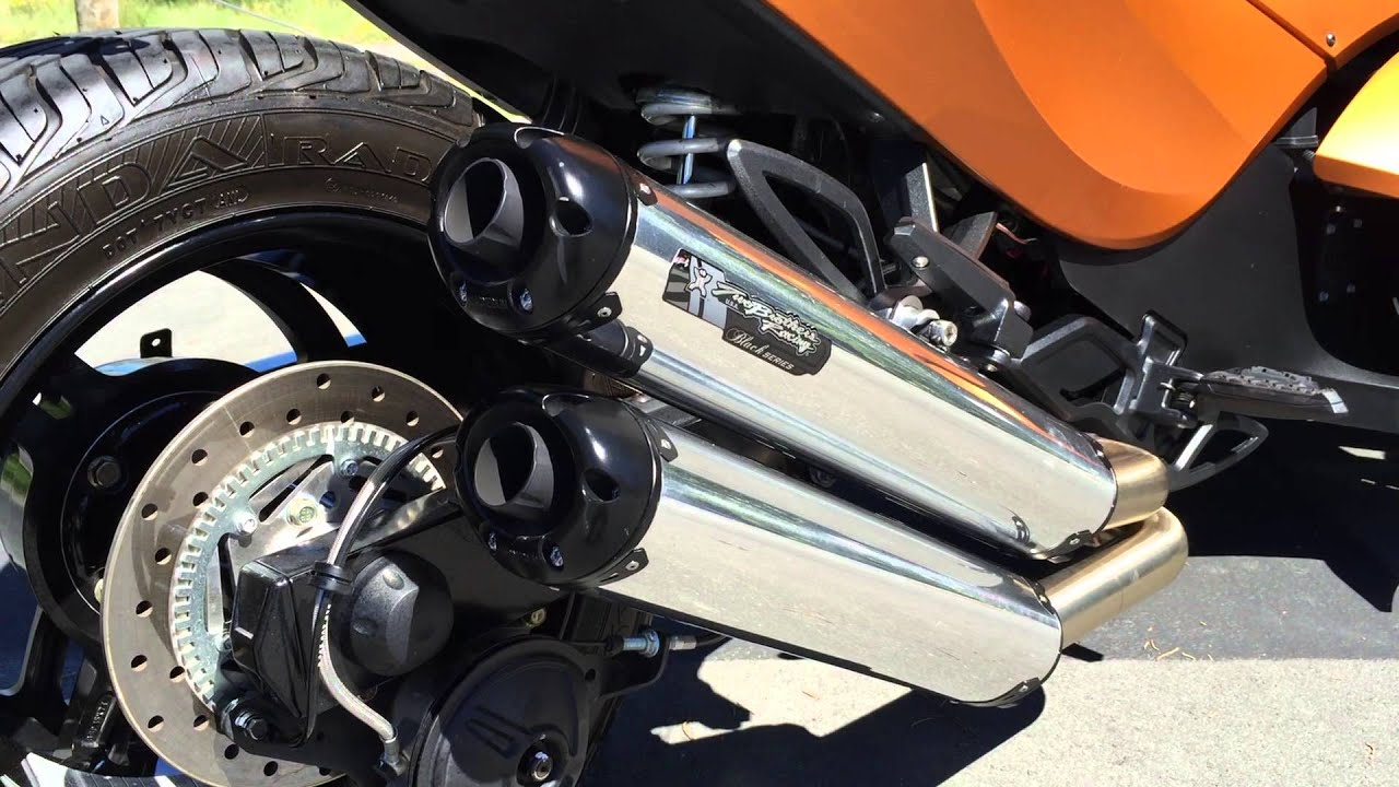 can am spyder exhaust sound youtube
