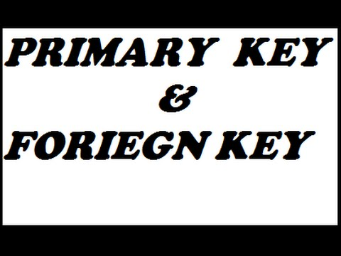 Primary key and Foreign Key in DBMS