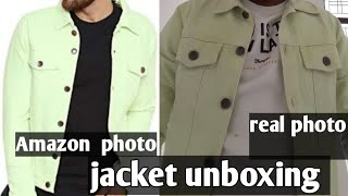 FUGAZEE mens denim jacket unboxing screenshot 3