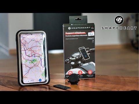 Test du support smartphone pour moto Shapeheart : meilleur que le Givi S957B ?