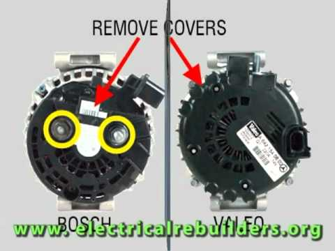 trailer bosch and valeo com terminal alternators youtube rh youtube com