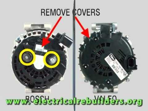 bosch 12v alternator wiring diagram micro usb charging cable trailer and valeo com terminal alternators youtube