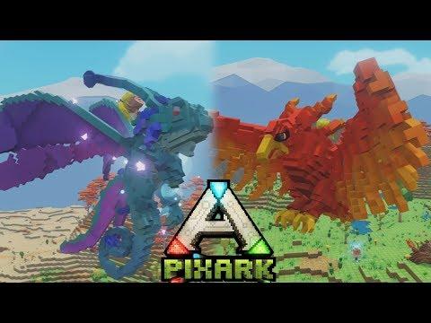 FAIRY DRAGON VS ARGATAVIS!? - PixARK #8