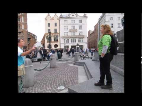 Krakow Old Town...American Woman Street Preacher