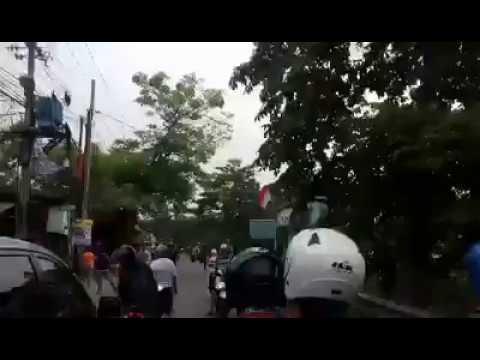 tawuran pelajar di Jalan Cipayung, gang karung, Cipayung, Depok, Jumat (3/11/2017)