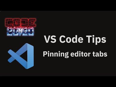 Pinning editor tabs