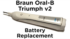 Battery Replacement Guide for Braun Oral-B Triumph v2 Toothbrush incl. 4000, 5000, 6000, 7000 Pro