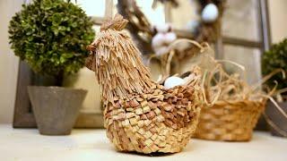 Поделки к Пасхе из природных материалов / DIY Пасхальный декор