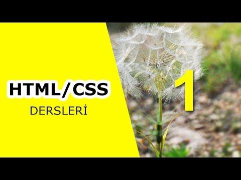 KODLAR TV- HTML/CSS Dersleri 1.Bölüm - Web Programlamaya Nereden Başlamalı