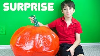 Giant Pumpkin Surprise, Angry Birds Transformers, Surprise Eggs, Angry Birds Mash