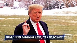President Trump Denies Being a Russian Agent on Live TV