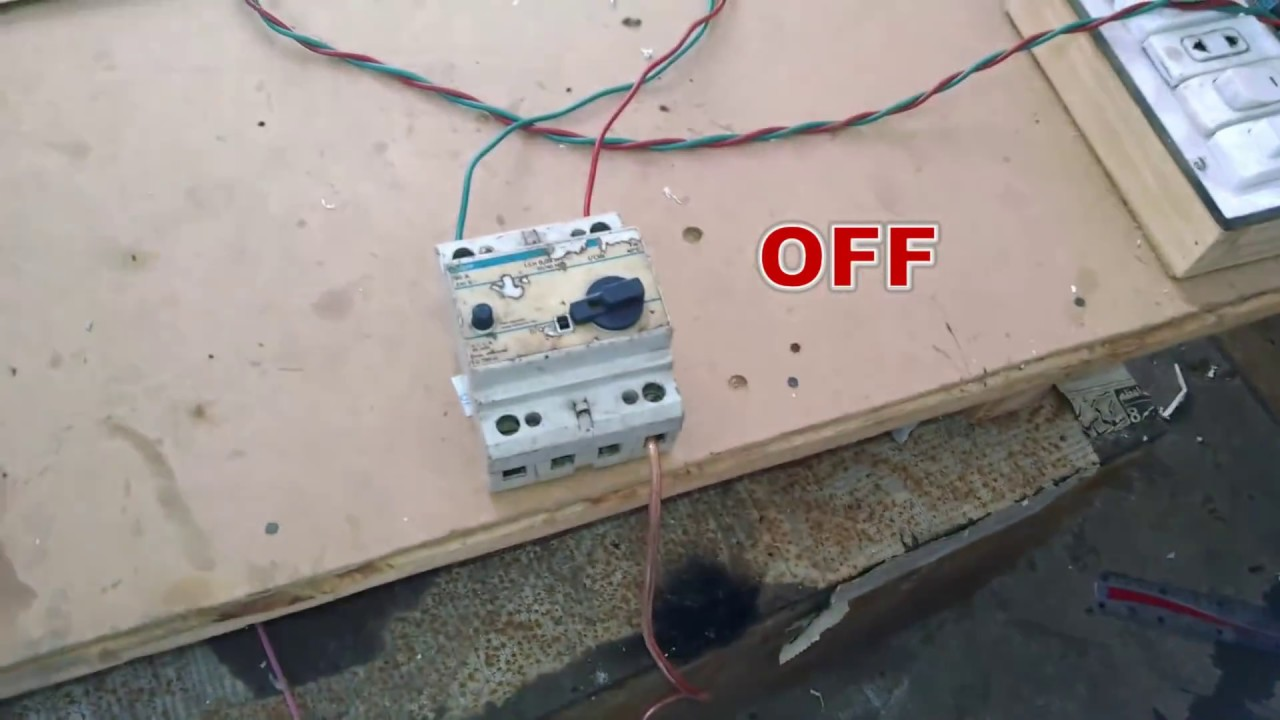 hight resolution of earth leakage circuit breaker working with human body