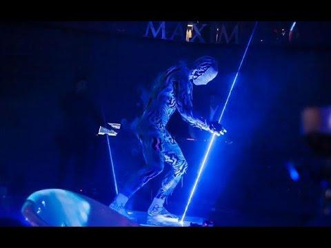 laser man blue