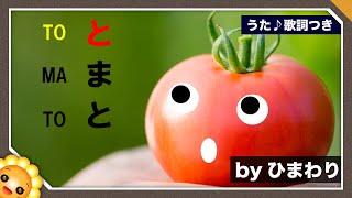 トマト byひまわり(?トマトってカワイイ名前だね〜)歌詞付き|童謡|TOMATO