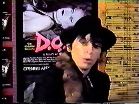 Johnny Thunders Interview (with Sad Vacation) at D.O.A. Premiere