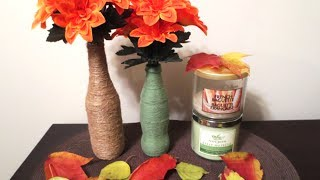 DIY: Upcycle Bottles into Wrapped Vases (Room Decor) Thumbnail