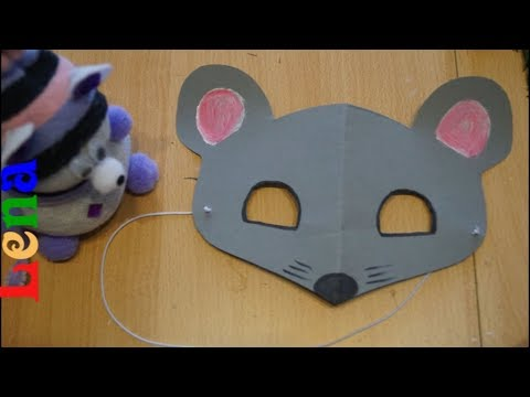 Maus Maske Basteln Mouse Mask Diy как сделать маску мышки