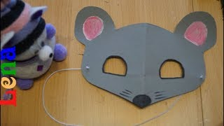 maus Maske basteln 🐭 how to make mouse mask diy 🐭 как сделать маску мышки