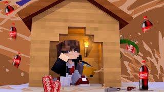 Minecraft: DESAFIO DA BASE 100% SEGURA CONTRA TSUNAMI DE COCA COLA ‹ JUAUM ›