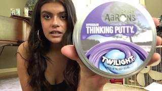 Crazy Aaron's Thinking Putty Hypercolors Review (Amethyst Blush, Twilight and Emerald Sky)