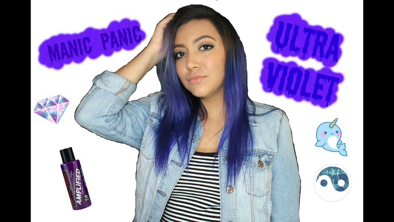 dying hair with manic panic
