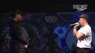 YouTube動画:HARDY vs 晋平太 / SPOTLIGHT 2018 MC BATTLE (2018年11月25日)