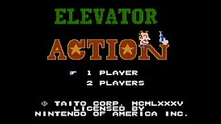 Elevator Action - NES Gameplay
