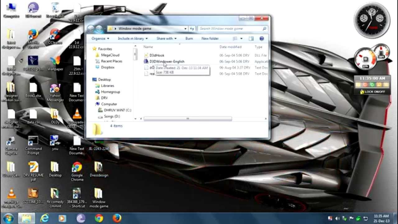 como usar directx windower