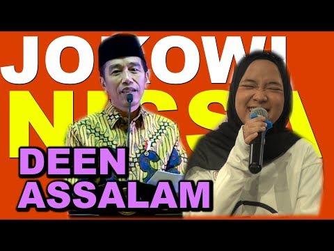 Keren, Jokowi Nyanyikan Lagu Deen Assalam Milik Nissa Sabyan