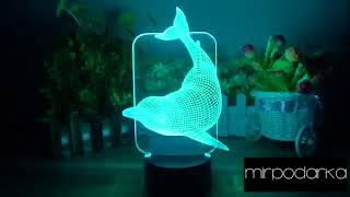 """LED-лампа """"Дельфин""""ночник обзор"""