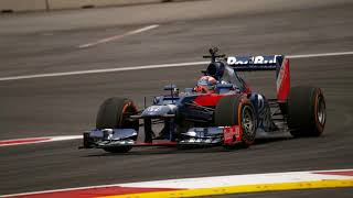 Marc Márquez driving an F1 car
