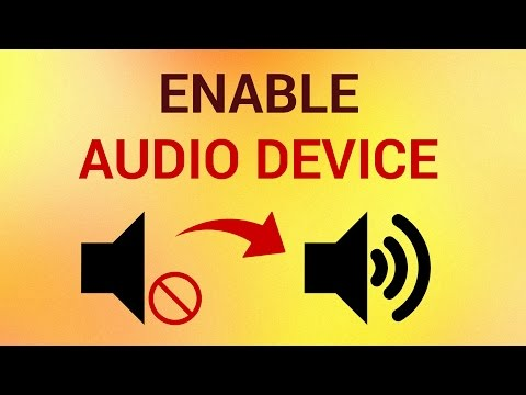 How to Enable Audio Device in Windows 7