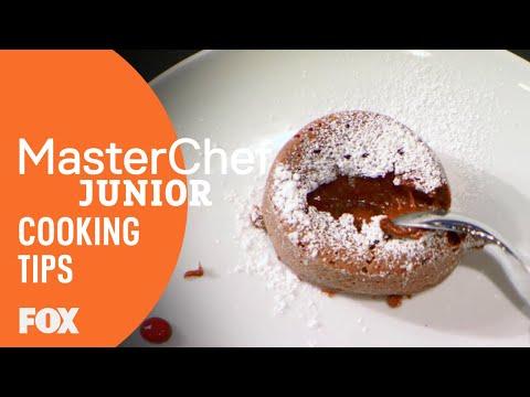 Cooking Tips: How To Make A Molten Lava Cake | Season 5 | MASTERCHEF JUNIOR