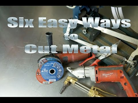 94c1fa8fd44 Home Metal-Shop Tips 101  6 Easy Ways How To Cut Metal - YouTube