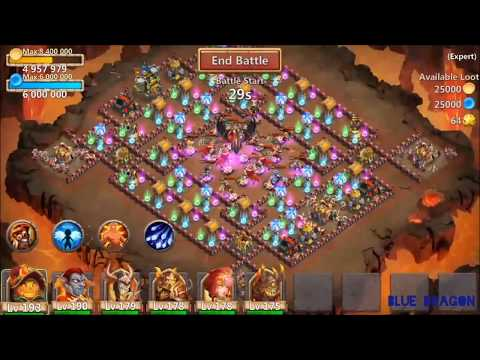 Castle Clash:(expert) Dungeon 8(10/10) Last Expert
