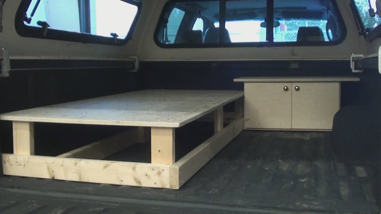 truck canopy sleeper - part one - youtube