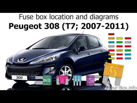 fuse box location and diagrams peugeot 308 (t7; 2007 2011) Peugeot 308 Space