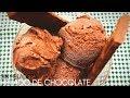 Helado de chocolate casero . Sin heladera. Receta súper fácil.