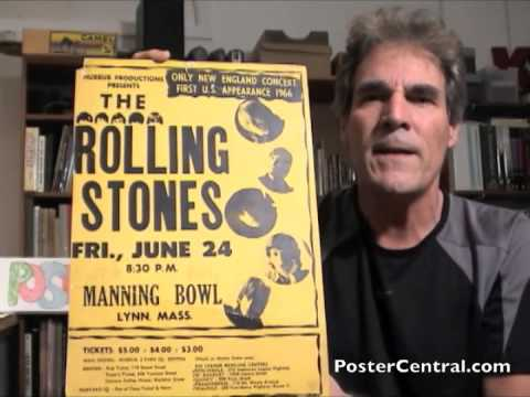 Rolling Stones Concert Poster 1966 Manning Bowl, Lynn, MA
