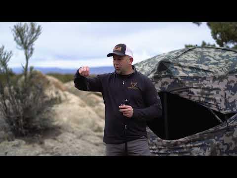 XENEK's 4-in-1 Ground Blind Support Pole, Trekking Pole, And Gun Rest