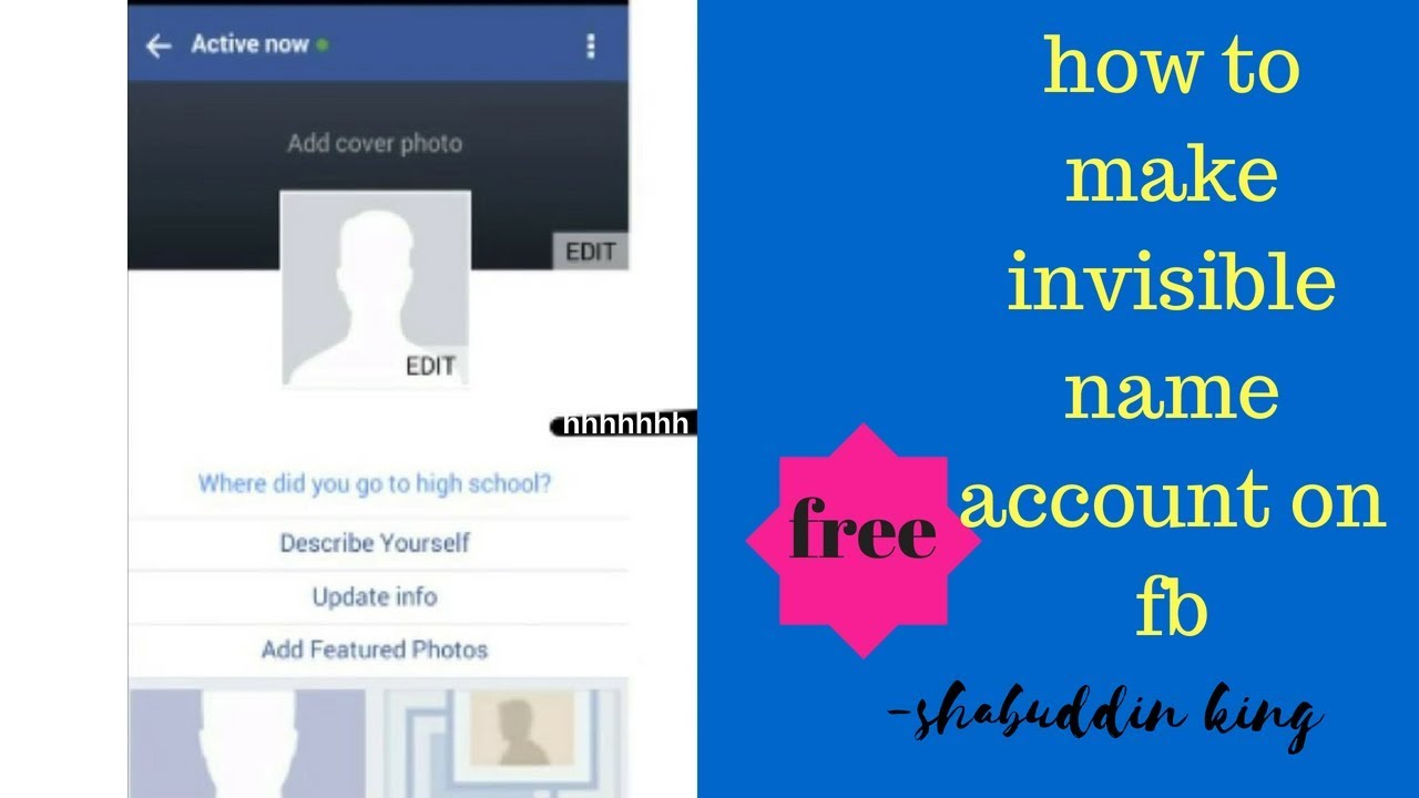 How To Make Invisible Id For Only Fb Lite User And Every Whare