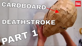 Make Deathstroke Mask Part 1 - Cardboard & Paper (free PDF) // Costume How to
