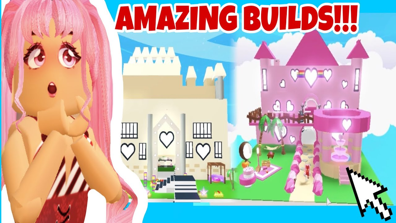 Touring Amazing GLITCH BUILDS that are made by FANS ADOPT ME! (Roblox)