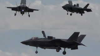 F-35 Hovering above Farnborough 4K video Get a preview before the show!