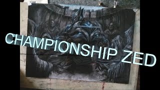 Championship Zed - Colored Pencils Drawing